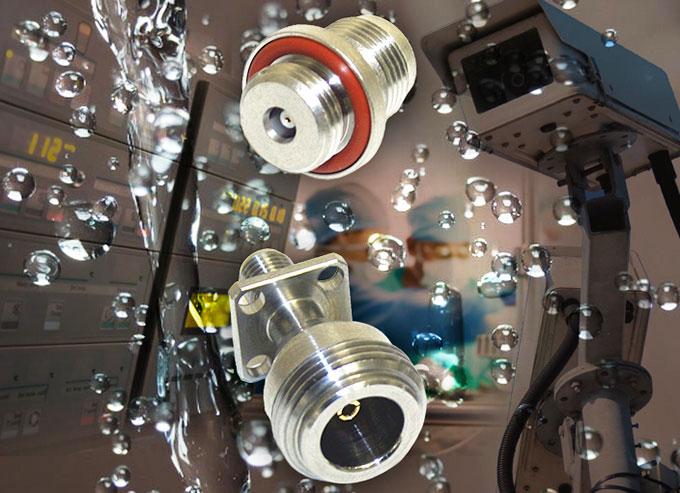 Conector RF resistente al agua