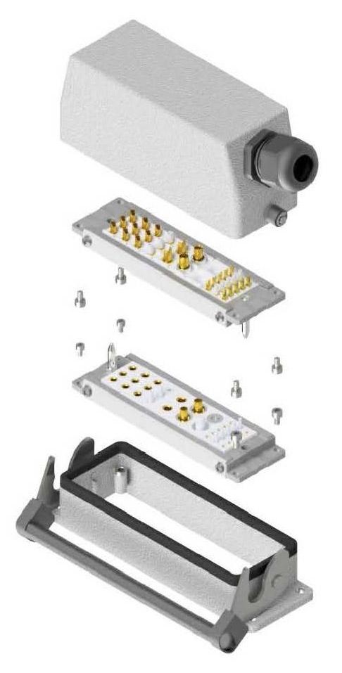 Despiece conector rectangular