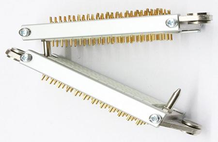 pareja conectores multicontacto rack conectando